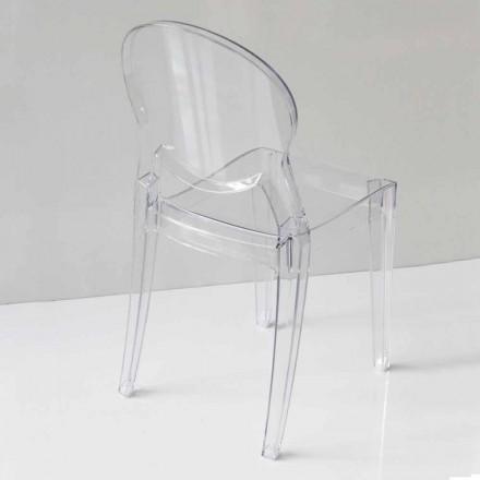 Krzesło Modern Design z poliwęglanu, w 2 kolorach - Dalila