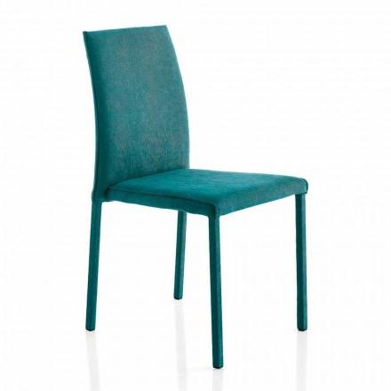 Designerskie krzesło z tkaniny do jadalni produkowane we Włoszech, Conny