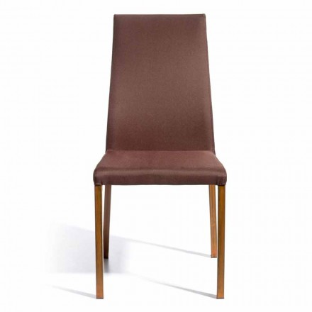 Krzesło design obite tkaniną Amalia, wys. 96Cm, wykonane we włoszech