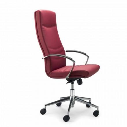 Krzesło biurowe z sztucznej skóry model Debora