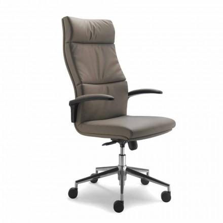 Fotel biurowy ze skóry model Edda