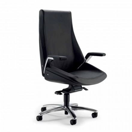 Krzesło biurowe szkórzane Ada Angelo Pinaffo & Gorgi