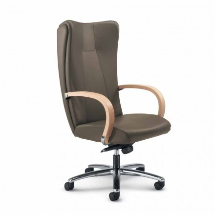 Krzesło biurowe szkórzane model Ambra nowoczesny design