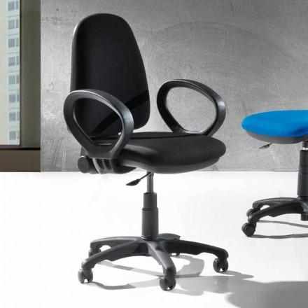 Nowoczesne obrotowe ergonomiczne krzesło biurowe z ekoskóry lub tkanek - Calogera