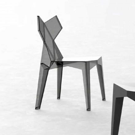 Krzesło zewnętrzne z poliwęglanu do układania w stosy, 4 sztuki - Kimono firmy Vondom