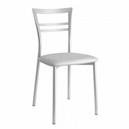 Krzesło kuchenne tapicerowane, nowoczesne wzornictwo Made in Italy, 2 sztuk - Go