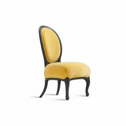 Krzesło tapicerowane z litego drewna czarne, 60x51 cm Tati