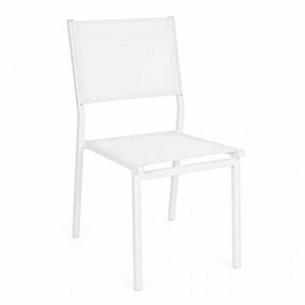 Aluminiowe i tekstylne krzesło ogrodowe do ustawiania w stos, nowoczesny design - Franz