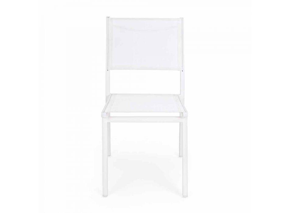 Aluminiowe krzesło ogrodowe do układania w stosy do projektowania na zewnątrz Mdoerno - Franz