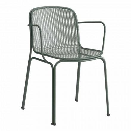 Metalowe krzesło do ustawiania w stosy Made in Italy, 4 sztuki - Verna