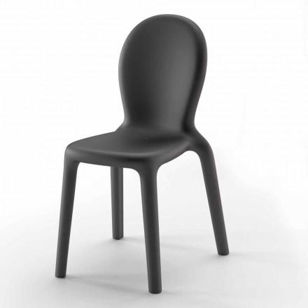 Krzesło do układania w stos z kolorowego polietylenu Wyprodukowano we Włoszech, 2 sztuki - Jamala