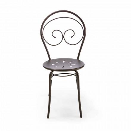 Krzesło ogrodowe z możliwością układania w stosy z metalu Made in Italy, 2 sztuki - Autorytet