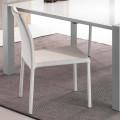 Białe krzesło ze sztucznej skóry Mayer
