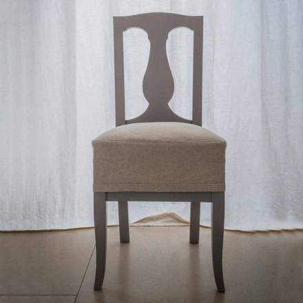 Krzesło z drewna bukowego lakierowane na buku z Włoch, Kimberly,2 sztuk