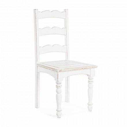 Homemotion Klasyczne krzesło z litego drewna mango - Blanche