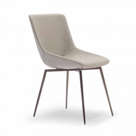 Nowoczesne krzesło do jadalni ze skórą Made in Italy - Bonaldo Artika