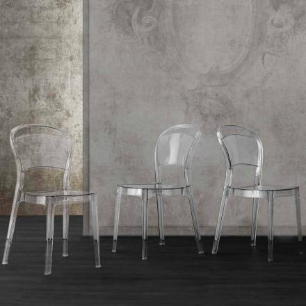 Przezroczyste krzesło z poliwęglanu o nowoczesnym designie Ferrara