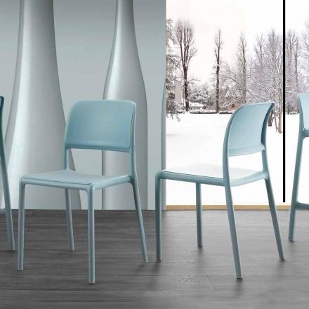 Nowoczesne krzesło z żywicy i włókna szklanego, wyprodukowane we Włoszech Holiday