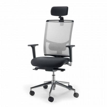 Mina - pół-kierunkowe i operacyjne krzesło ze sztucznej skóry wykonane we Włoszech