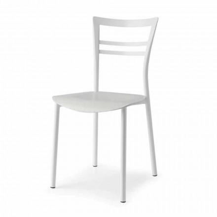 Krzesło Living Design z metalu i drewna wielowarstwowego Made in Italy - Go