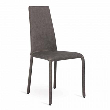 Krzesło living z sztucznej skóry made in Italy, Gazzola