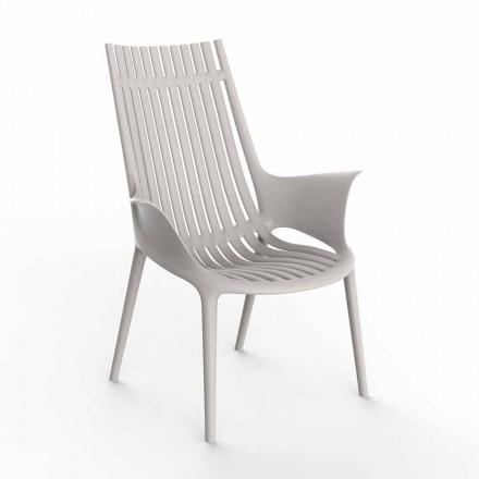 Fotel z podłokietnikami do użytku na zewnątrz z tworzywa sztucznego, 4 sztuki - Ibiza firmy Vondom