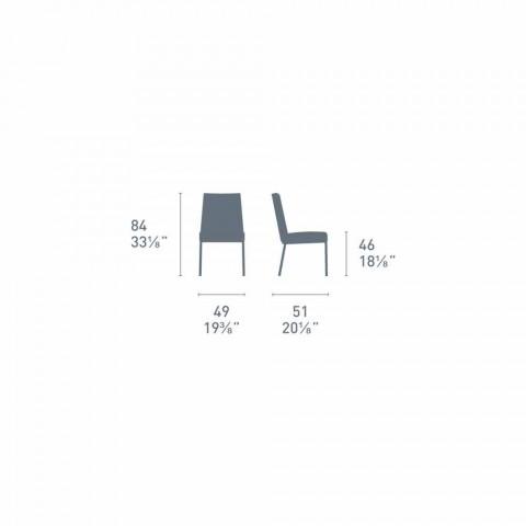 Connubia by Calligaris Academy nowoczesne krzesło z metalu i skóry