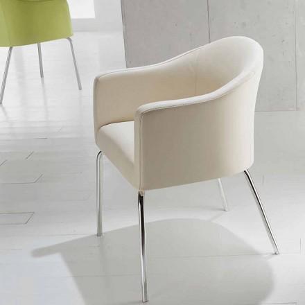 Nowoczesne krzesło Costello z imitacji skóry