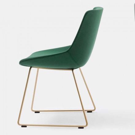 Nowoczesne krzesło materiałowe z podstawą sanekową Made in Italy - Artika