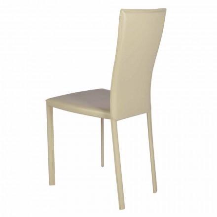 Krzesło nowoczesne design ze skóry made in Italy model Ghada
