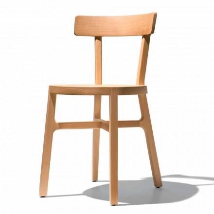 Krzesło do kuchni lub jadalni z litego buku Made in Italy - Cima