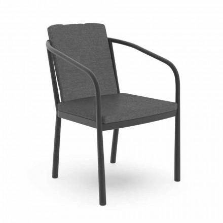 Krzesło ogrodowe z podłokietnikami z aluminium i tkaniny - Sofy by Talenti