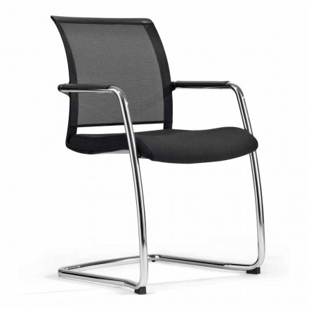 Krzesło do sali kongresowej lub sali konferencyjnej w Tecnorete i tkaninie, 2 sztuk - Vespasiano