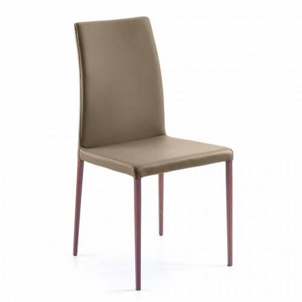 Krzesło do jadalni design z sztucznej skóry Abbie, produkt włoski