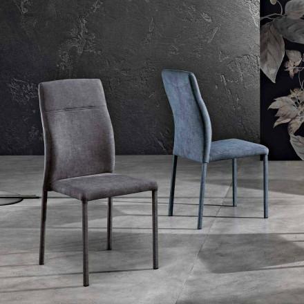 Designerskie krzesło z tkaniny do jadalni produkowane we Włoszech, Luigina