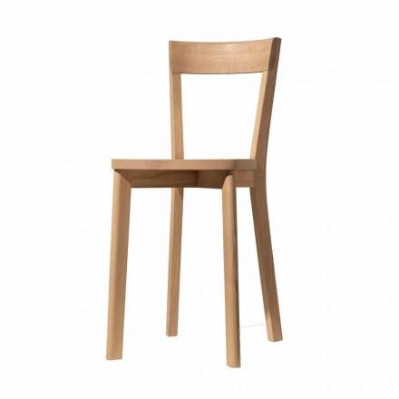 Krzesło do jadalni z jesionu i litego drewna Made in Italy - Alima