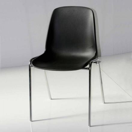 Krzesło do sali konferencyjnej lub nowoczesnej sali konferencyjnej z metalu i czarnego ABS - Zetica