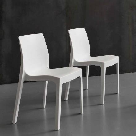 Nowoczesne krzesło kuchenne / jadalne z polipropylenu Imperia