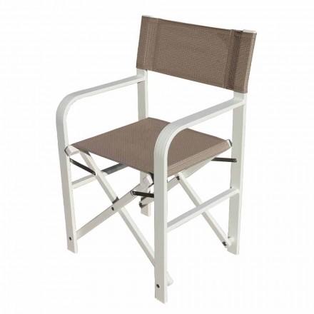 Krzesło reżyserskie ze składanego płótna, wyprodukowane we Włoszech, 2 sztuki - Susy