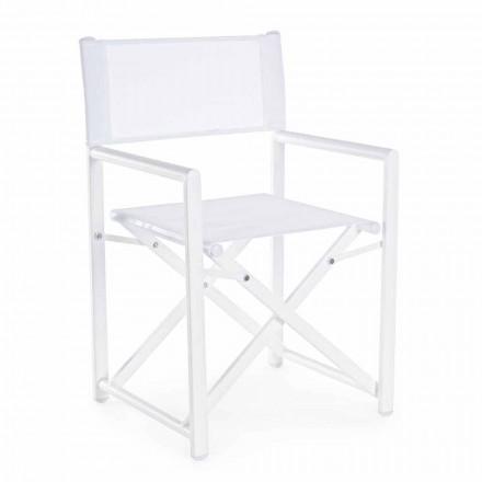 Krzesło ogrodowe z nowoczesnym designem, wykonane z aluminium, na zewnątrz - Cameo