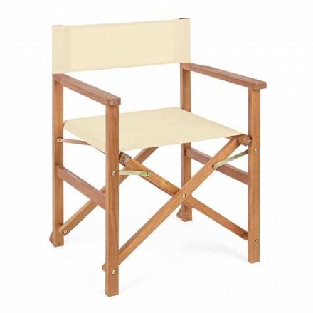 Krzesło dyrektora z drewna akacjowego do projektowania ogrodów na zewnątrz - Roxen