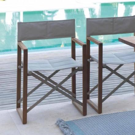 Krzesło reżyserskie składane mahoń i textilene, model Bridge
