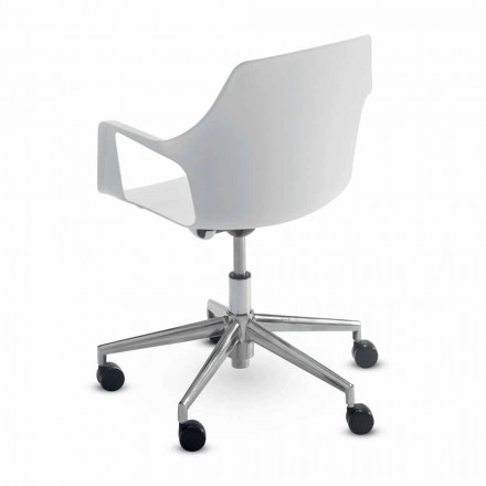 Krzesło biurowe z aluminium i polipropylenu Wykonane we Włoszech, 2 sztuki - Charis