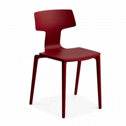 Zewnętrzne krzesła z polipropylenu do układania w stosy Made in Italy, 4 sztuki - Claribel