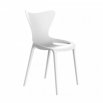 Krzesła ogrodowe z możliwością układania w stosy z polipropylenu 4 sztuki - Love by Vondom
