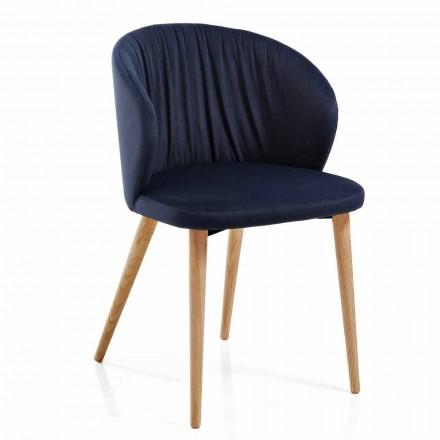 Krzesła do jadalni z tkaniny Elegancki i nowoczesny design 2 sztuki - Reginaldo
