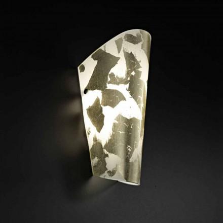 Selene Bloom kinkiet szklany 12x11 wys. 28Cm, dekoracja ręczna