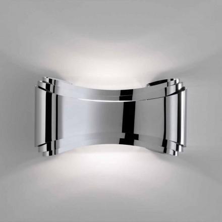Selene Ionica lampa ścienna 30x10x16 cm ze stal i szkła, made in Italy