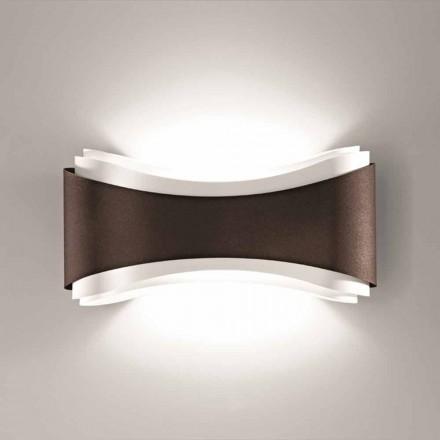 Selene Ionica lampa ścienna 40x12x20 cm ze stal i szkła, made in Italy
