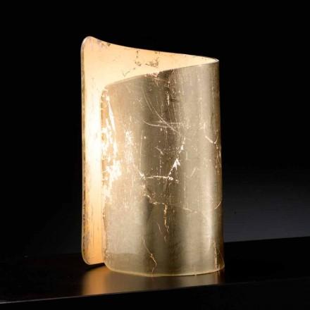 Selene Papiro lampa stołowa kryształowa made in italy 15x14x25 cm